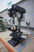 Optimum B17 pro pedestal drill with rise and fall table, and machine vice