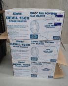3 x Clarke Devil 1600 space heater