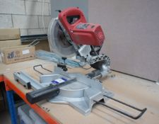 """Xtreme PSM 255SN 10"""" sliding mitre saw, with laser (Purchaser to remove, as fastened to table)"""