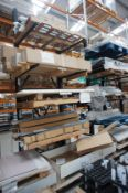 Sec storage cantilever 5 tier stock racking, Capacity 75KG per arm, Approx. 2.5 x 4m (Purchaser to