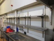 8 x Stainless Steel Shelves