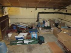 Qty of Packaging, cooking utensils, etc - on Mezzanine Floor