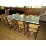 Chic 8 Person Table with 8 Chairs