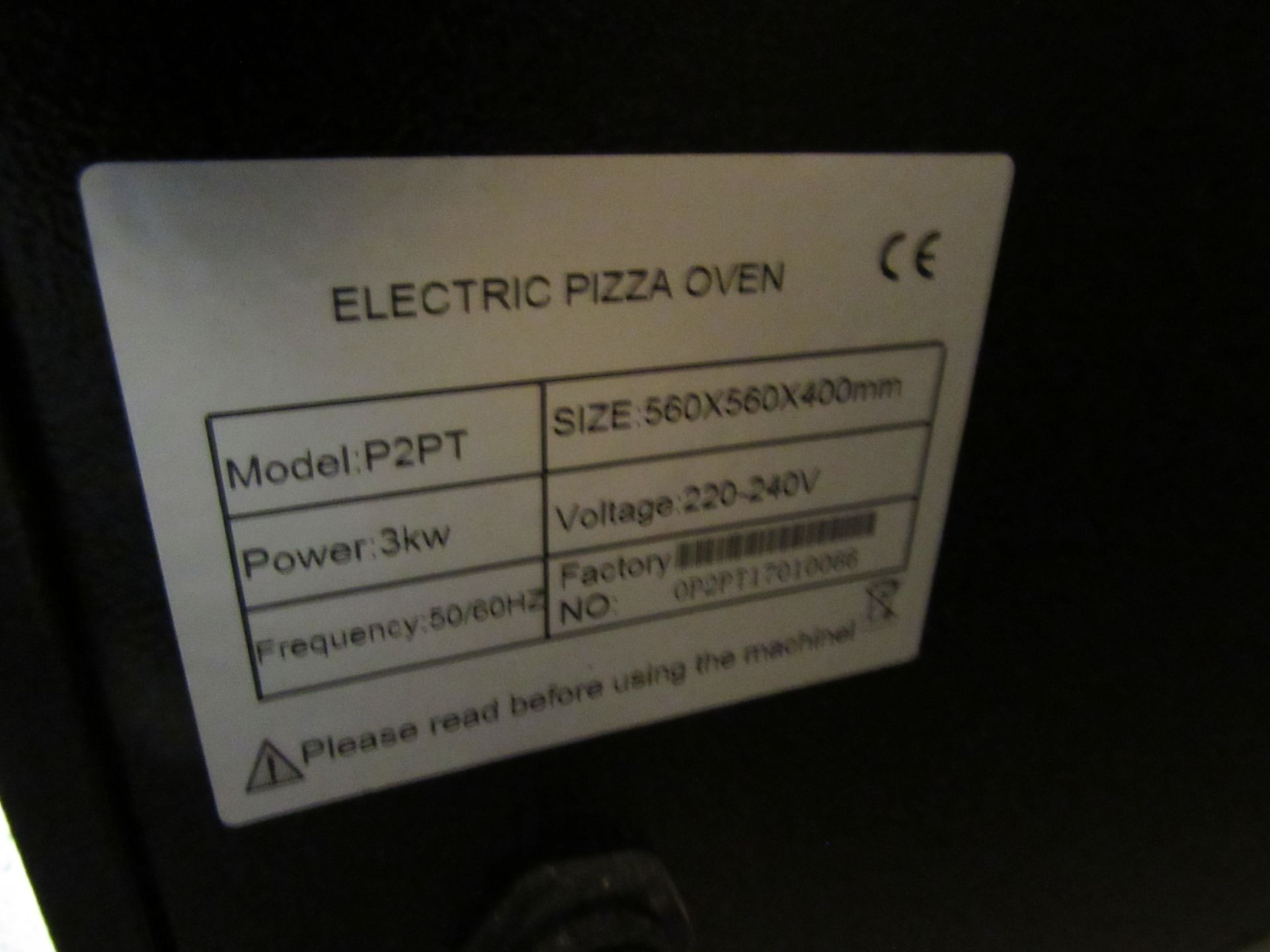 Electric Pizza Oven, P2PT 560x566x400mm - Image 5 of 5