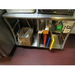 Stainless Steel Stand and Contents