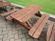 Timber Pub Bench (#21)