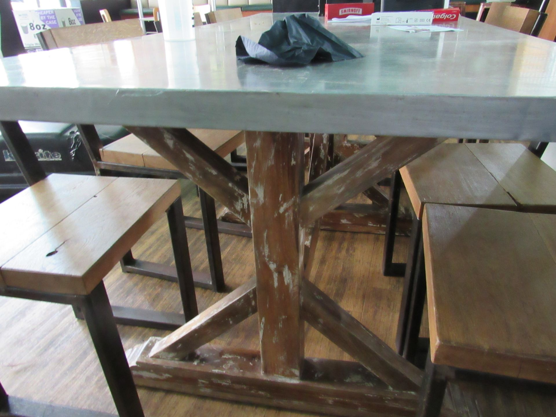 Chic 8 Person Table with 8 Chairs - Image 6 of 6
