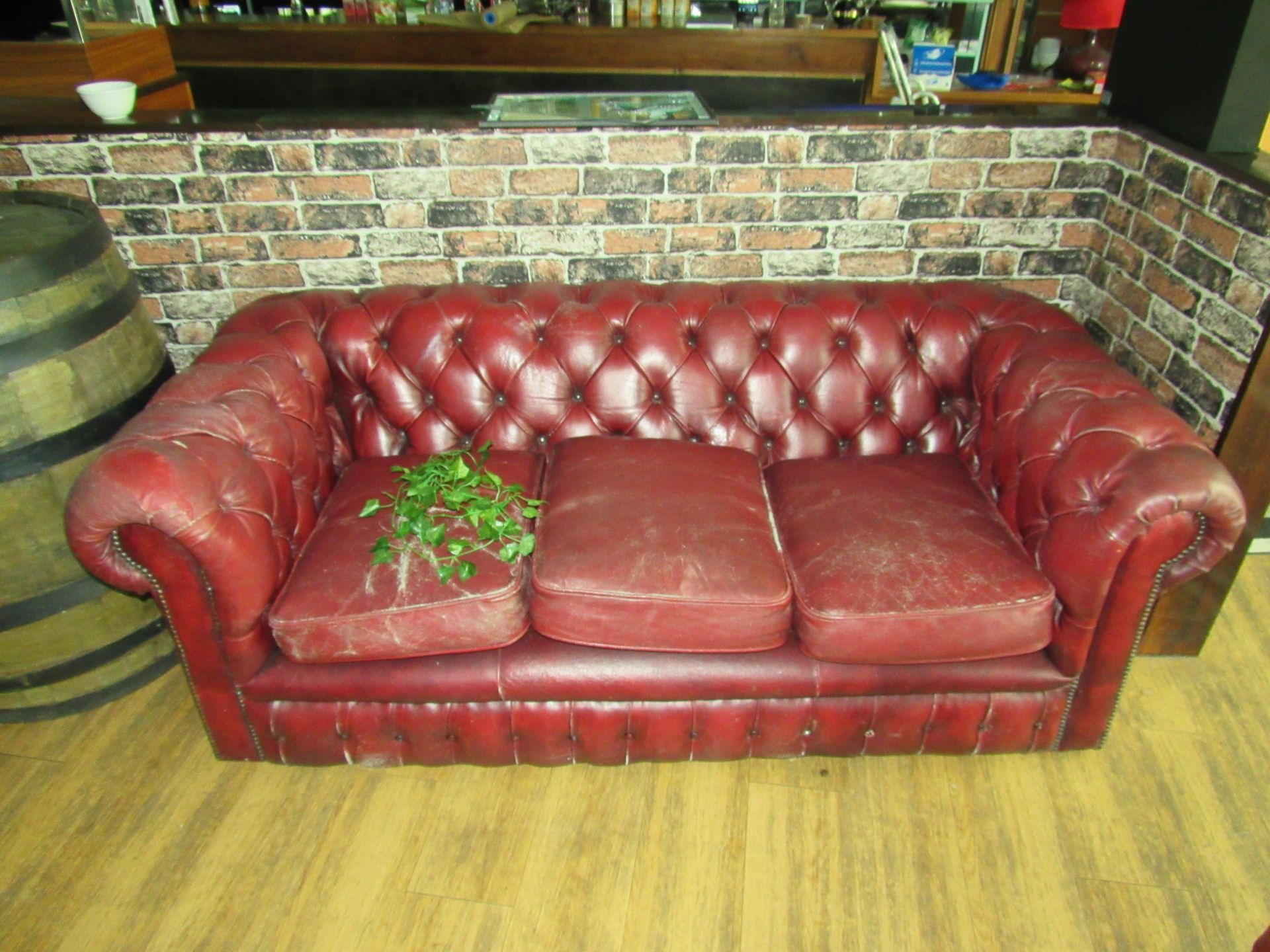 3 Seat Button Back Sofa - Image 2 of 2