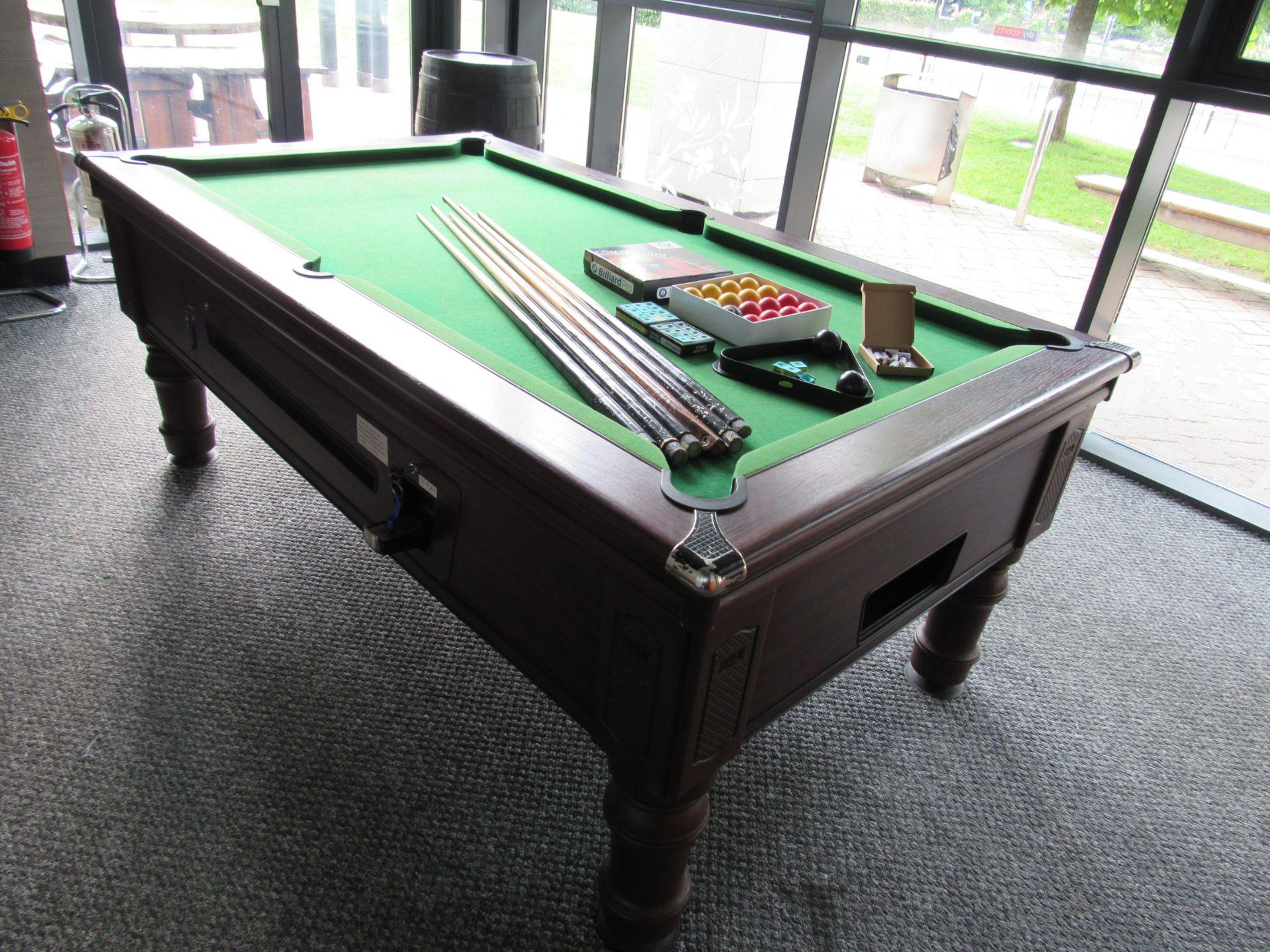 Supreme Pool, Pay to Play Billiard Table - Image 3 of 9