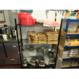4 Tier Wire Shelf Unit and Contents