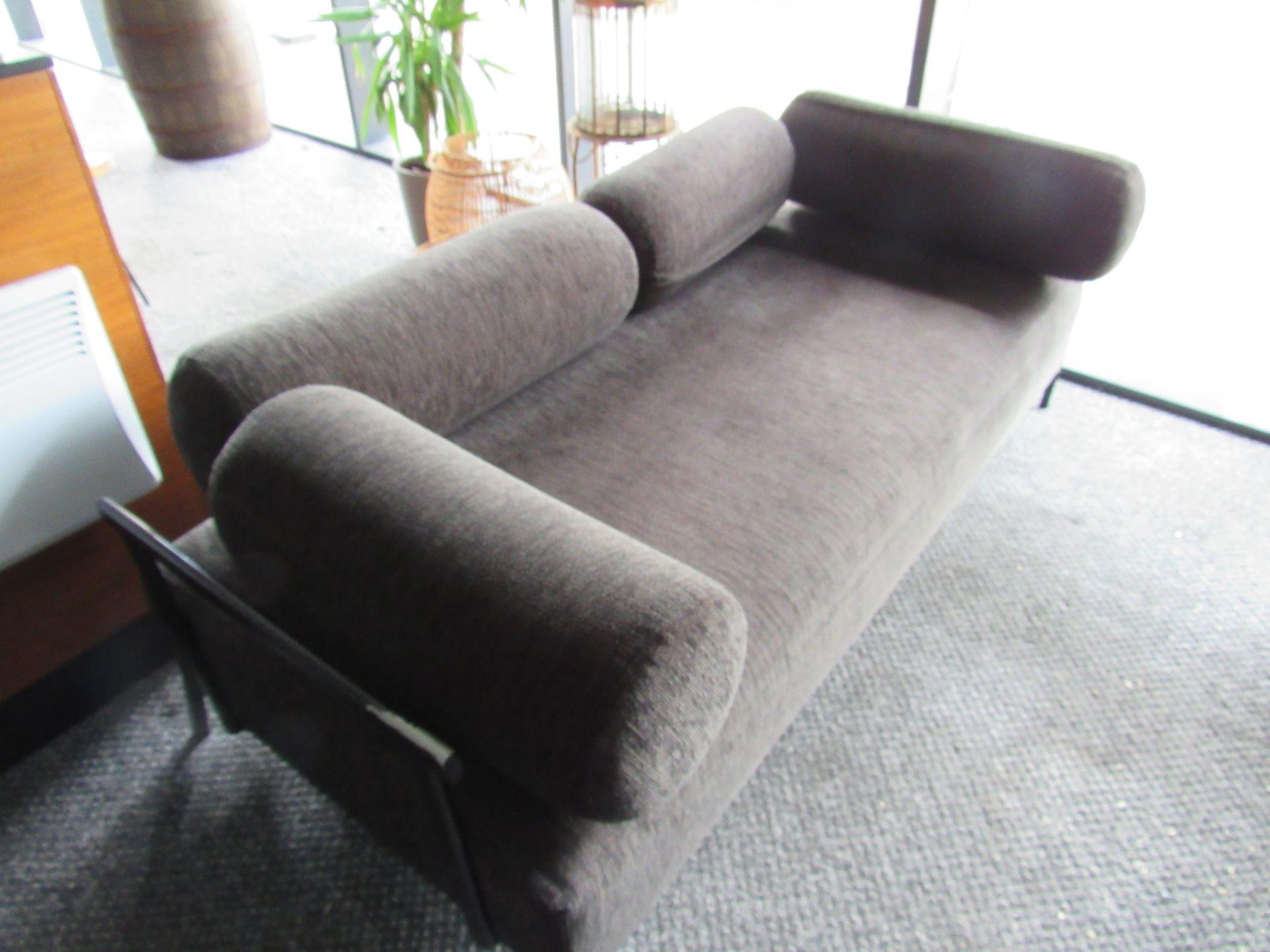 2 Steel Framed Upholstered Sofas - Image 4 of 4