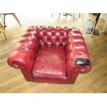 Button Back Arm Chairs