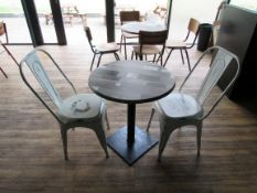 Café Table with 2 Retro Chairs