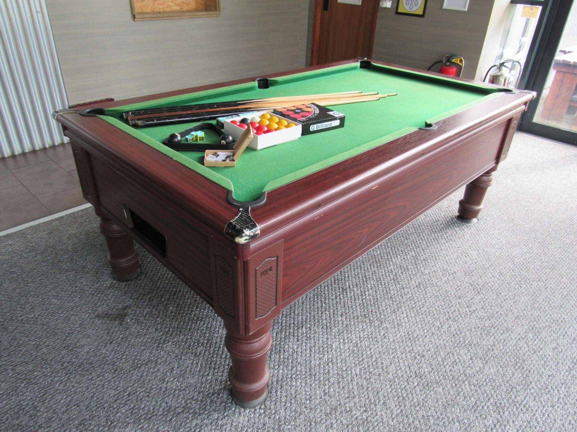 Supreme Pool, Pay to Play Billiard Table - Image 7 of 9