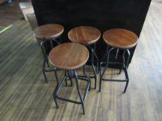 4 Bar Stools with Swivel Seats