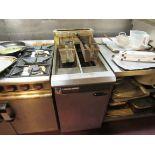 Blue Seal Vee Ray Twin Basket Deep Fat Fryer