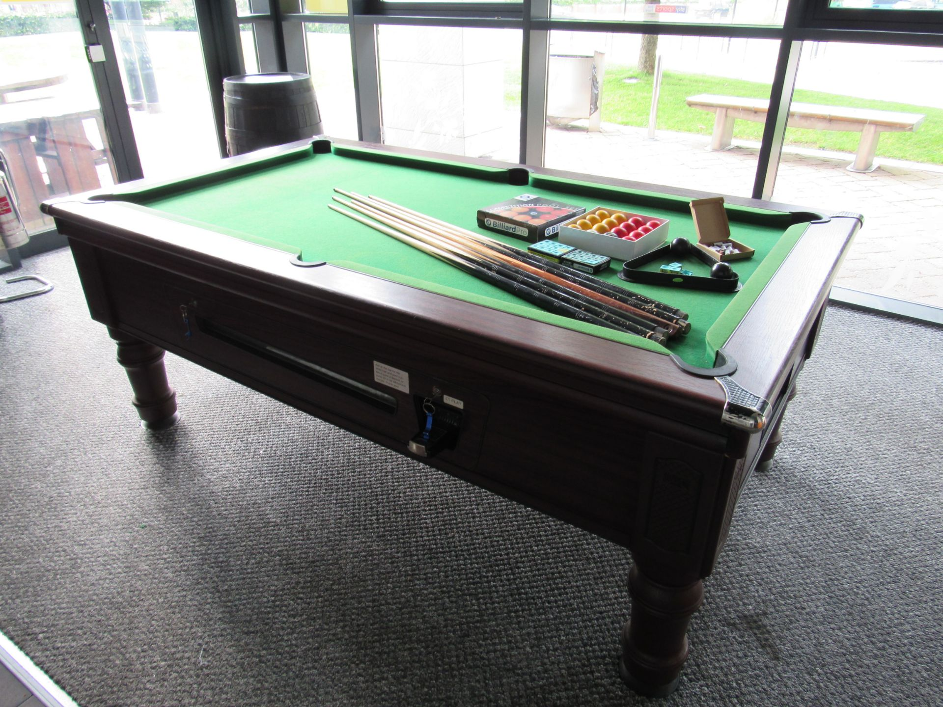 Supreme Pool, Pay to Play Billiard Table - Image 2 of 9