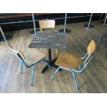 Café Table with 3 Retro Chairs