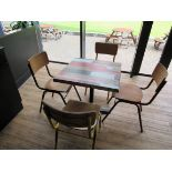 Café Table with 4 Retro Chairs