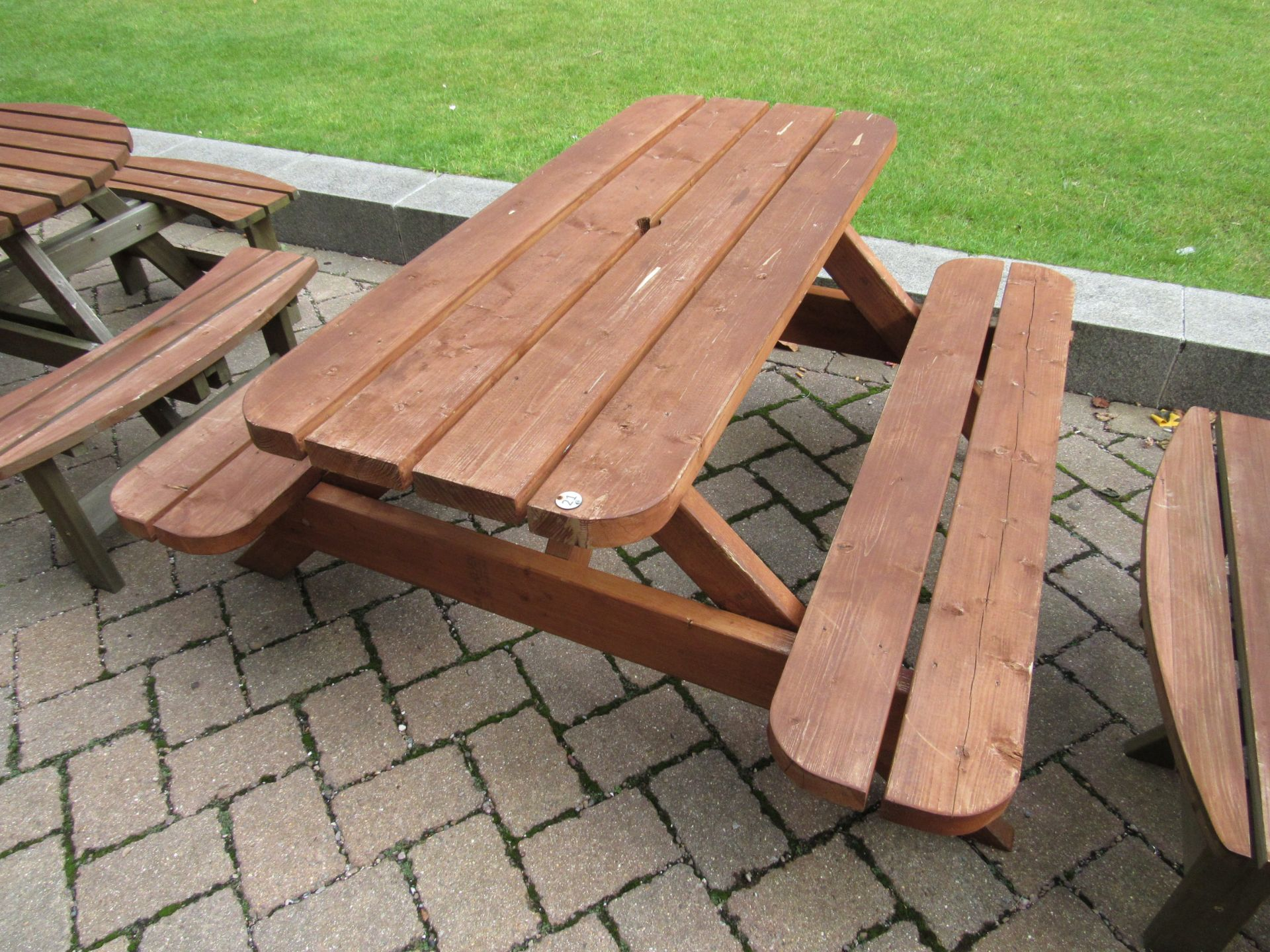 Timber Pub Bench (#21) - Image 2 of 2