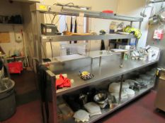 Stainless Steel Pass Unit with 3 Tier Over Shelf