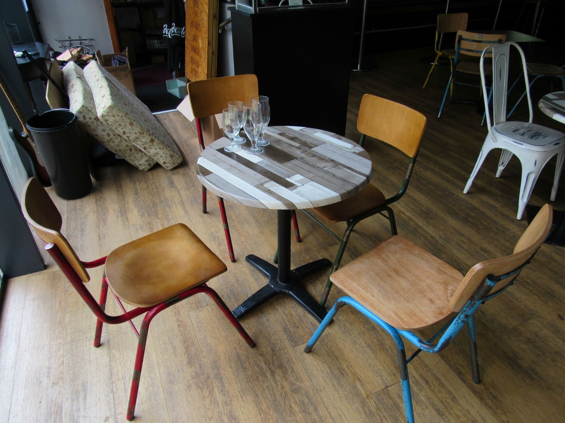 Café Table with 4 Retro Chairs - Image 2 of 3