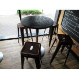 Poser Table with 4 Coffee Effect Bar Stools
