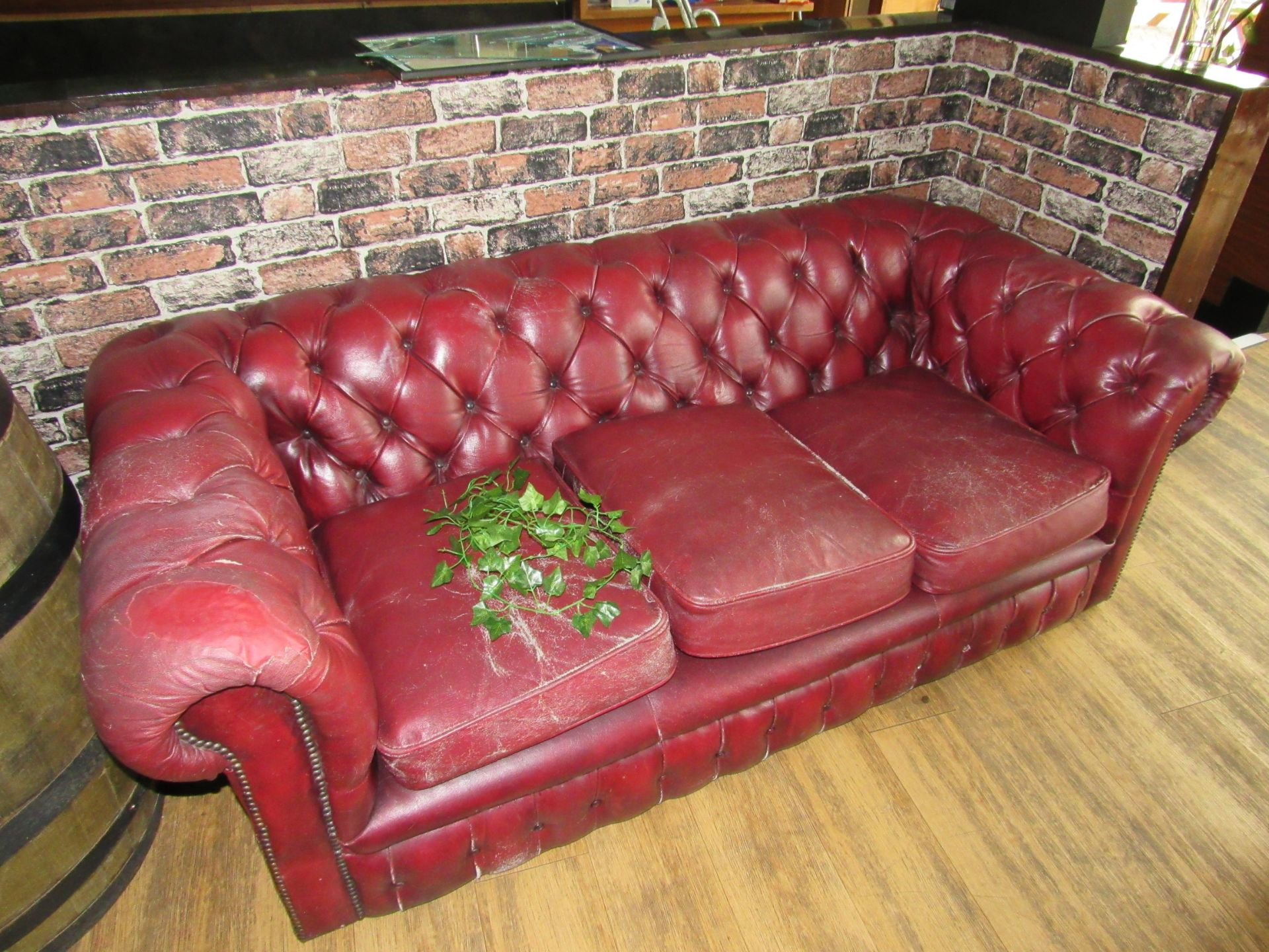 3 Seat Button Back Sofa