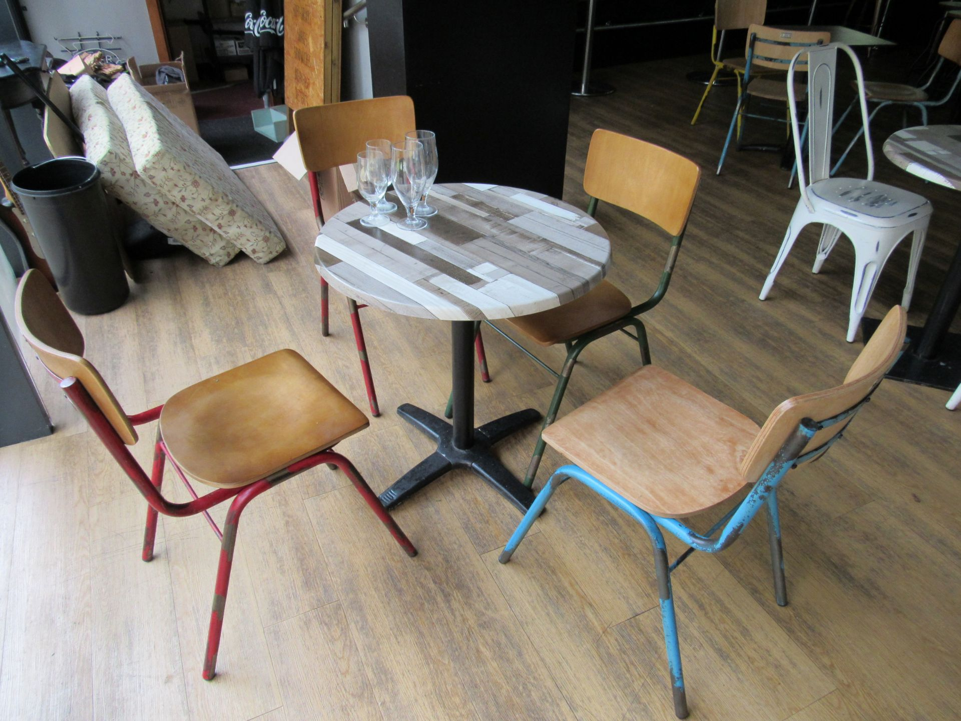 Café Table with 4 Retro Chairs - Image 3 of 3