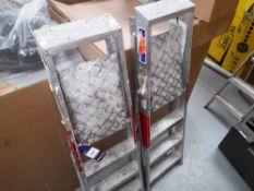 2 Aluminium 3-tread Folding Step Ladders