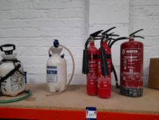 2 5Ltr Spray Bottles, 1 Water & 4 x CO2 Fire Extinguishers