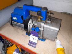 Robinair Cooltech 15601 High Performance Vacuum Pump 110v, serial number 052737