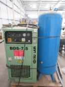Sullair BDS-7.5KW Motor Air compressor with receiver and dryer
