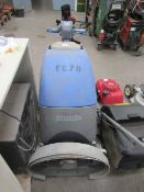 Numatic Floor Sweeper and 6x Lights on Frame