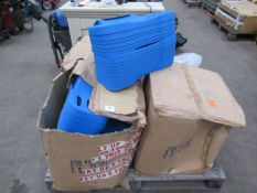 Pallet of 100+ unused 'Abdomenizer's, Magnetic Wristbands, (50+), AC-DC Adaptors and Batteries