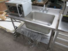 s/s Single sink unit with splashback and under tier