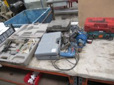 Qty of 240v,110v and Pneumatic Tools (untested)