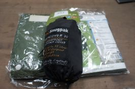 Qty of Snugpack pak boxes and bag waterproof covers