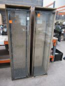 2x Glass Display Cabinets, no shelves