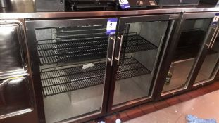 Autonumis glazed double hinged door 3ft/900mm Back Bar Cooler, S/N 11.04.JH.06769