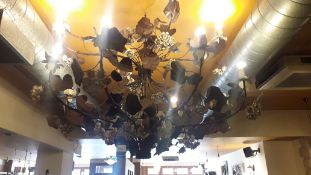 Ornate rose bush Chandelier, approx.1100 x 1500mm (purchaser to disconnect)