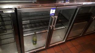Autonumis glazed double hinged door 3ft/900mm Back Bar Cooler, S/N 11.06.JG.51958