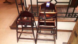 3 x Balero dark wood highchairs