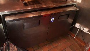 True TUC-60 stainless steel double door 439ltr under counter Fridge, serial number 1-3564679