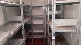 5 bays of galvanised Steel Shelving (purchaser to dismantle)