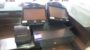 Till System, comprising; 2 Bleep TS700 touchscreens terminals (without software), Bixolan SRP-350