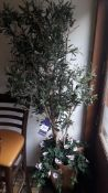 Potted Artificial Olive Tree