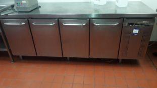 Gram K2207 Stainless Steel 4-door 668ltr Counter Fridge, Serial number 474