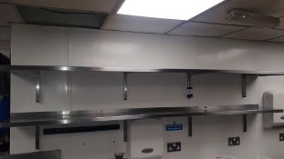2 x stainless steel wall mounted Shelves, 2450mm