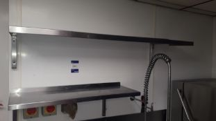 2 x Stainless steel wall mounted Shelves (1 x 1,500mm & 1 x 900mm)